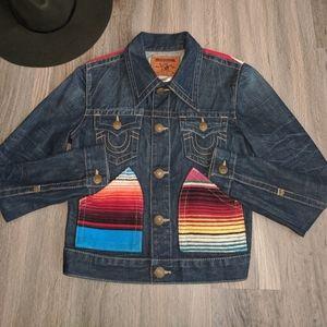 True Religion World Tour Jada Baja Denim Jacket M
